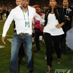 Jennifer Hudson leaves field after singing national anthem ~ Superbowl XLIII