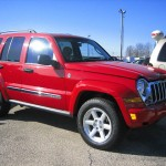 red jeep liberty