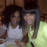 Ciara & makeup artist/bff yolanda eating italian food-(twitpic)