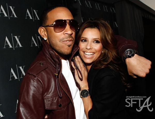Ludacris & Eva Longoria-Parker in L.A. at A/X Watch Launch