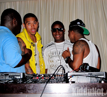C. Brown Yung Joc & Omarion on stage