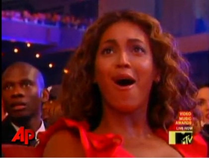 beyonce shocked at vmas