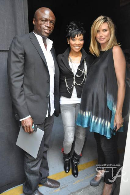 Seal, Monica & Heidi Klum
