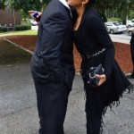 "Monica greets Ed Hartwell ~ Ashley ""AJ"" Jewell Funeral"