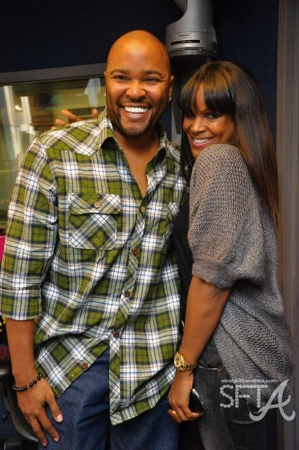 Ryan Cameron &amp; Tameka Foster Glover Raymond at V-103