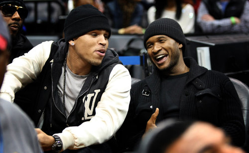 Chris Brown & Usher ~ Cavalier v. Hawks 12/29/09