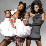 kim porter and the twins by Derek Blanks