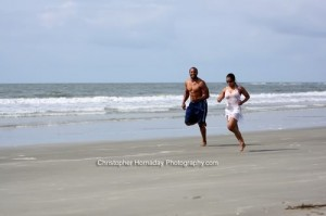 Ed  LIsa Wu Hartwell on Tybee Island