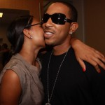 Ludacris & Fiance Kiss