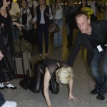 Lady Gaga takes a fall