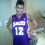 Monica in Lakers Jersey