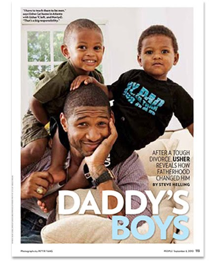 Usher Raymond chillin at home with his two sons  Nayvid and UsherUsher Kids And Wife