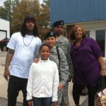 Waka Flocka Deb and Army Family