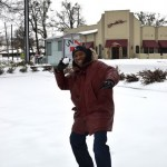 """A"" Town Pic of the Day ~ Peachtree Street Snowball Fight…"