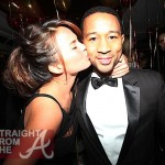 John Legend and Christine Teigen Kiss