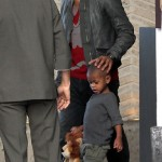 Spotted: Usher & Sons in Miami…