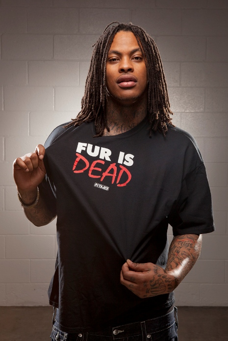 """Waka Flocka Goes Nude for PETA's """"Ink Not Mink"""" Campaign…"""