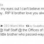 Soulja Boy Mourns Death of His 14 Year Old Brother…