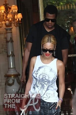 Beyonce JayZ Leave Paris