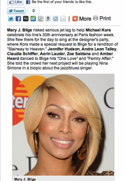 Keri Hilson mistaken for Mary J. Blige in NY Post