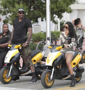 Amare-Stoudemire-and-Ciara-Riding-Motorbikes