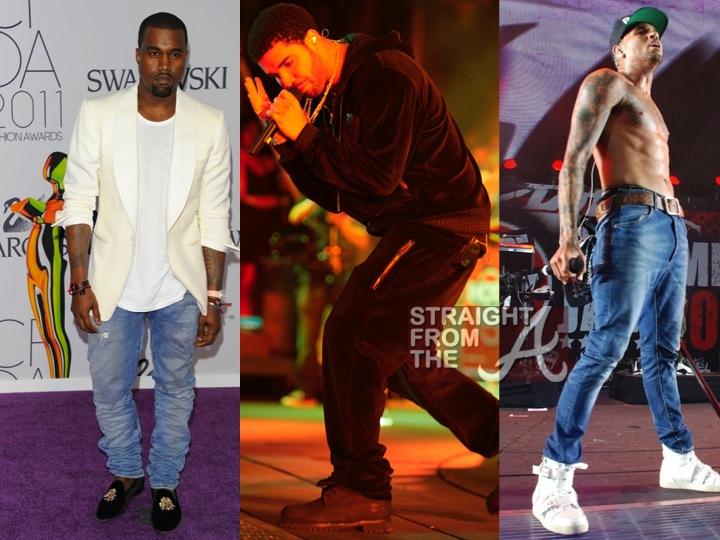 Pick One Kanye S Slippers Drake S Velour Or Chris Brown