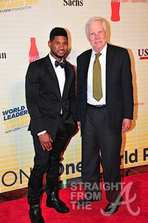 Usher & Ted Turner