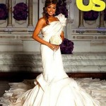 A Closer Look at Monica's Wedding Dress + Group Shot Of Bridesmaids…. [PHOTOS]