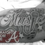 Guess the Tatt: What ATL Super Producer Got a New Musical Tattoo? [PHOTOS]
