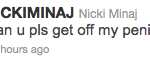 Nicki Minaj Dick Tweet