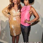 Beyonce's Baby Bump Plays Hide & Seek During Mercedes Benz Fashion Week… [PHOTOS]
