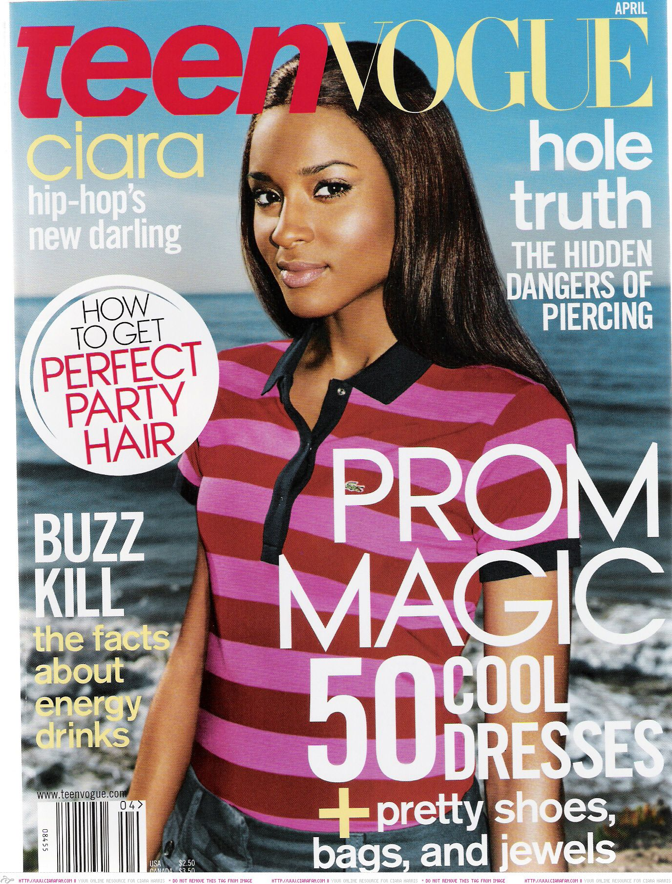 Ciara Teen Vogue April 2005