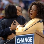 Barack and Michelle Obama with Oprah