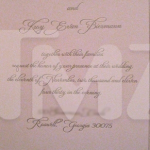Kim Zolciak Wedding Invitation