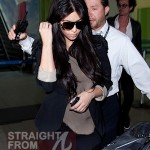 Kim Kardashian Returns to LAX 111211