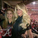 Kim and Brielle at Falcons Saints Game