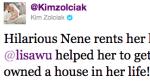 Kim Zolcaik NeNe House Tweet