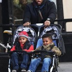 SPOTTED: Usher Raymond Strolling With Sons in NYC… [PHOTOS]