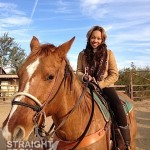 Monica Brown weave on Horse