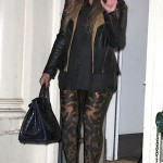 Queen B Baby Bump Watch ~ Beyonce Rocks Sexy Leopard Leggings in NYC 12/21/11 [PHOTOS]