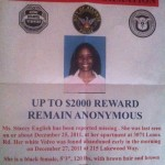 Stacey Nicole English Missing Flyer