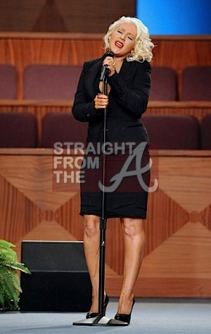 Christina Aguilera Etta James Funeral 4