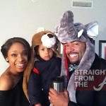 Jennifer Hudson David Otunga & Son 2