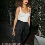Rihanna See Through Tank in LA 012512