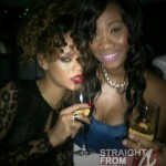 Rihanna and Friend Twitpic