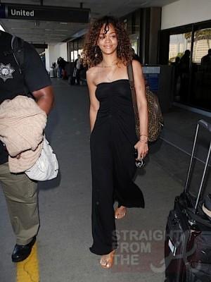 Rihanna at LAX 012212-12