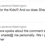 Lawrence Washington Tweet