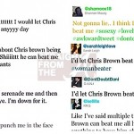 Chris Brown Beat Me Tweets