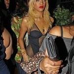 Blonde Rihanna Rocks Revealing Bodysuit in Hollywood… [PHOTOS]