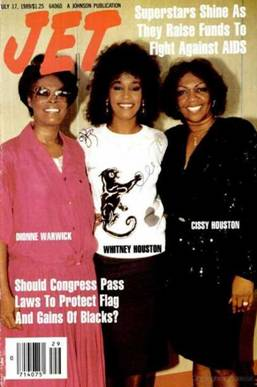 dionne warwick whitney houston relationship